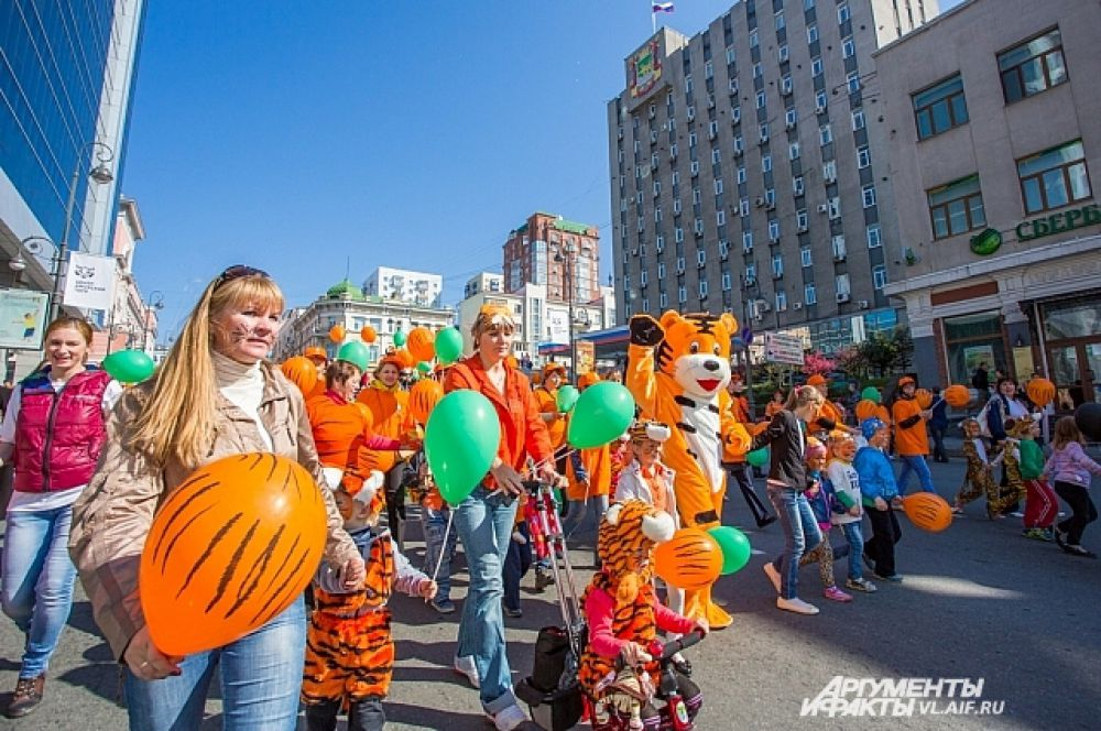 Кстати, тигр - символ Владивостока. Он даже на фасаде мэрии есть.