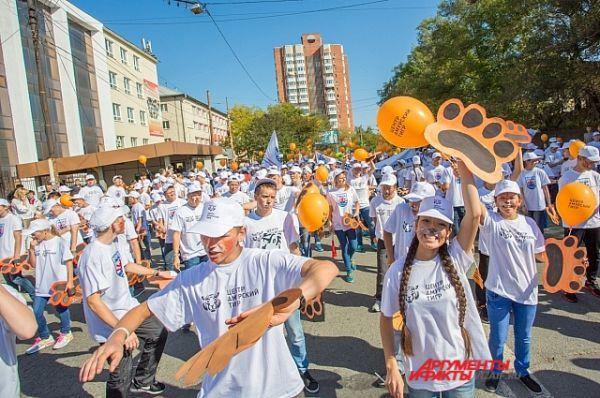 Шествия, по традиции, берёт начало от Покровского парка.