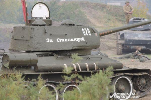 На склоне Мамаева кургана появляется легендарный танк – участник Сталинградской битвы.
