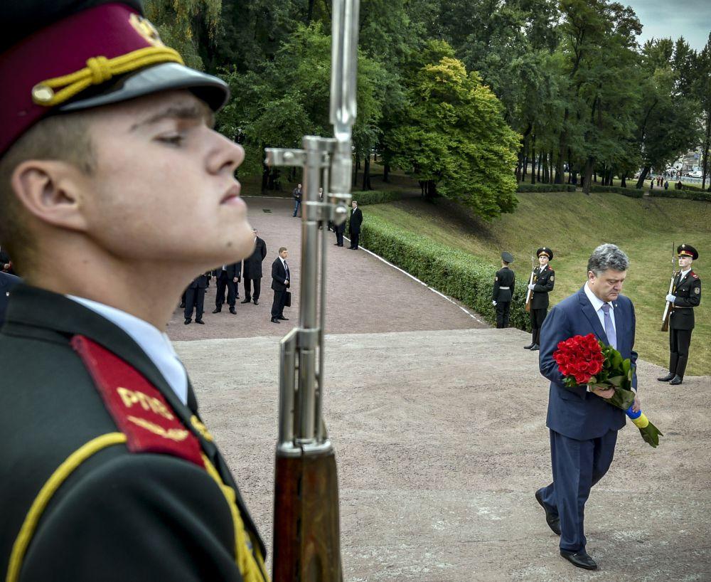 Церемония в Бабьем Яру в Киеве