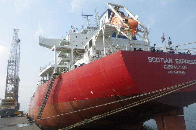 Корабль TX Scotian Express с углем