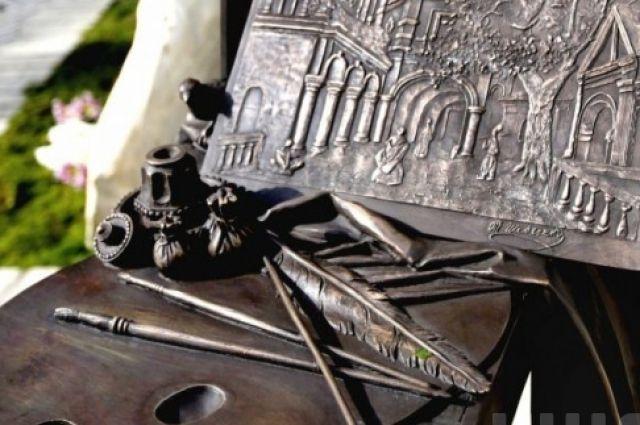 Памятный знак Шевченко в Лавре