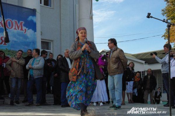 А Ольга Лапшина спела акапелло народную песню.