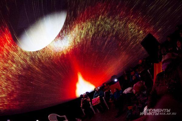 Кадр одного из фильмов, показанных в мобильных планетариях.