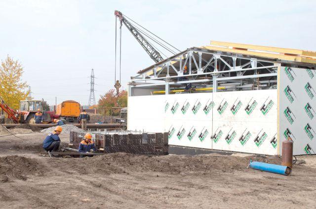 Котельную в Степном построили быстро благодаря современным технологиям и труду рабочих.