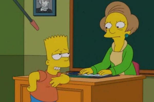 Большой популярностью у зрителей пользовалась Эдна Крабаппл – разочарованная в жизни учительница Спригфилдской начальной школы в мультсериале «Симпсоны».