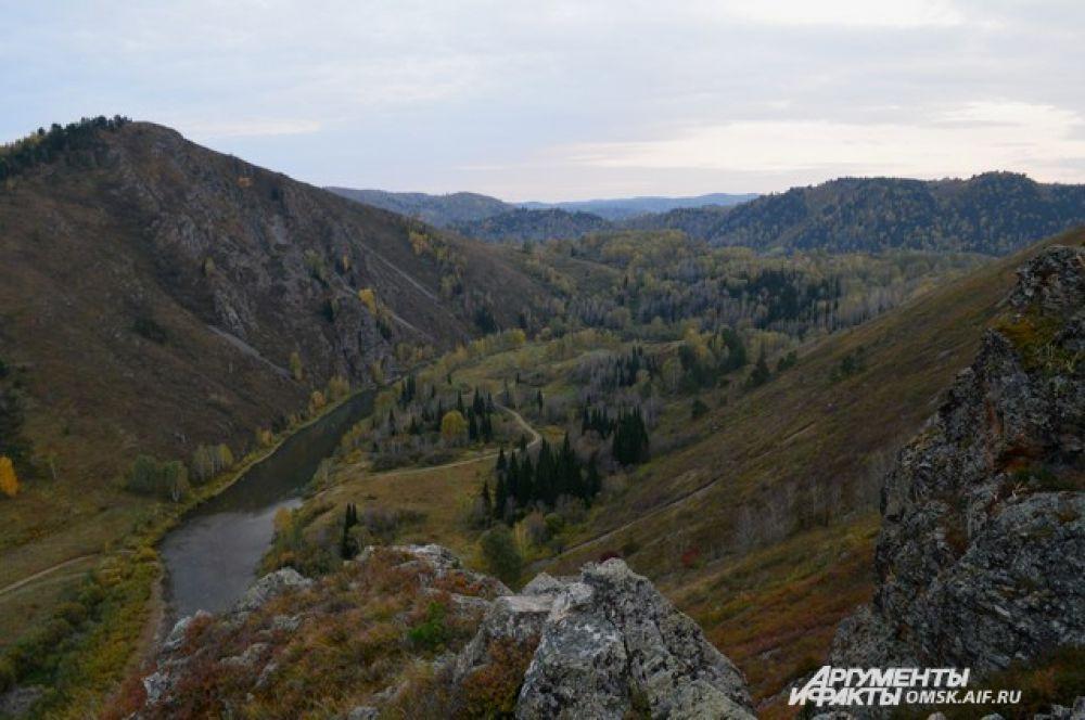 Река Белая в Курьинском районе.