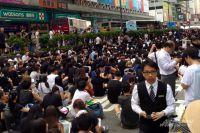 Акции протеста в Гонконге.