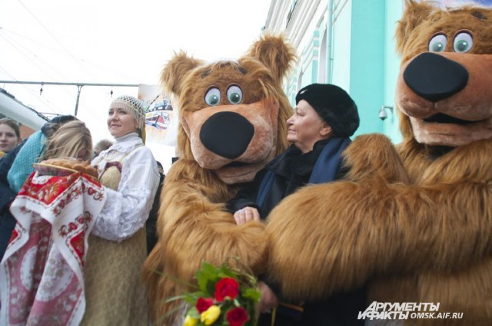 Кинопоезд «ВГИК-95» в Омске.