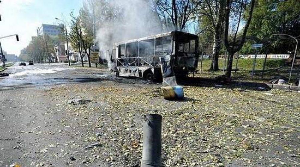 Как обстреляли школу в Донецке
