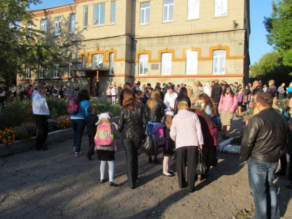 Первый звонок в Донецке