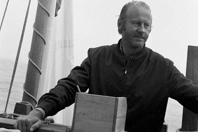 Командир экипажа папирусной лодки «РА-2» Тур Хейердал. 1970 год.
