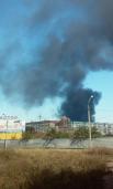 Над аэропортом Донецка клубы черного дыма