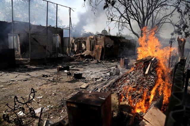 Разрушенный боевиками Донбасс