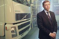 Председатель совета директоров АФС «Система» Владимир Евтушенков на торжественной церемонии открытия первого в России завода по сборке грузовых автомобилей «Вольво».