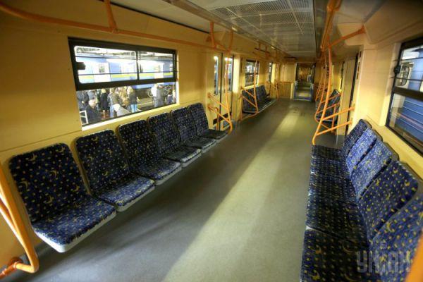 Модернизированные вагоны метро в Киеве