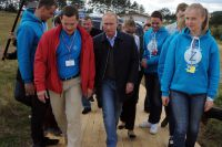 Владимир Путин во время посещения 10-го Всероссийского молодёжного форума «Селигер-2014».