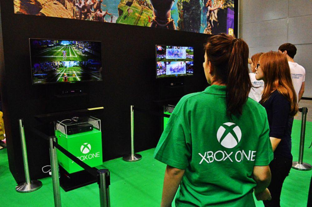 Стенд Xbox.