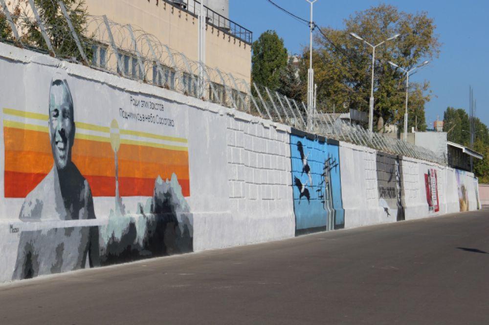 Общая площадь работ граффити-художников 400 метров.