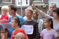 Митинг против секс-просвета для маленьких детей в Германии.