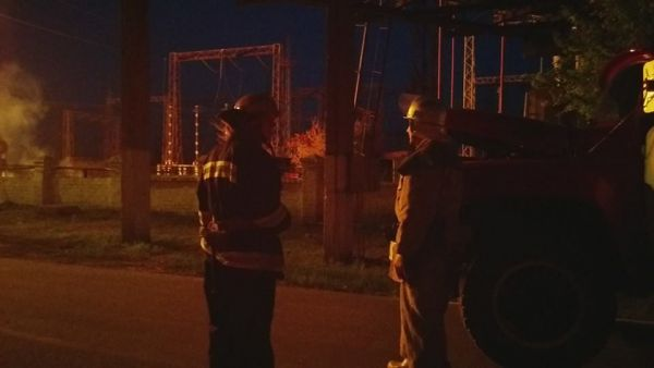 пожар на Луганской ТЭС