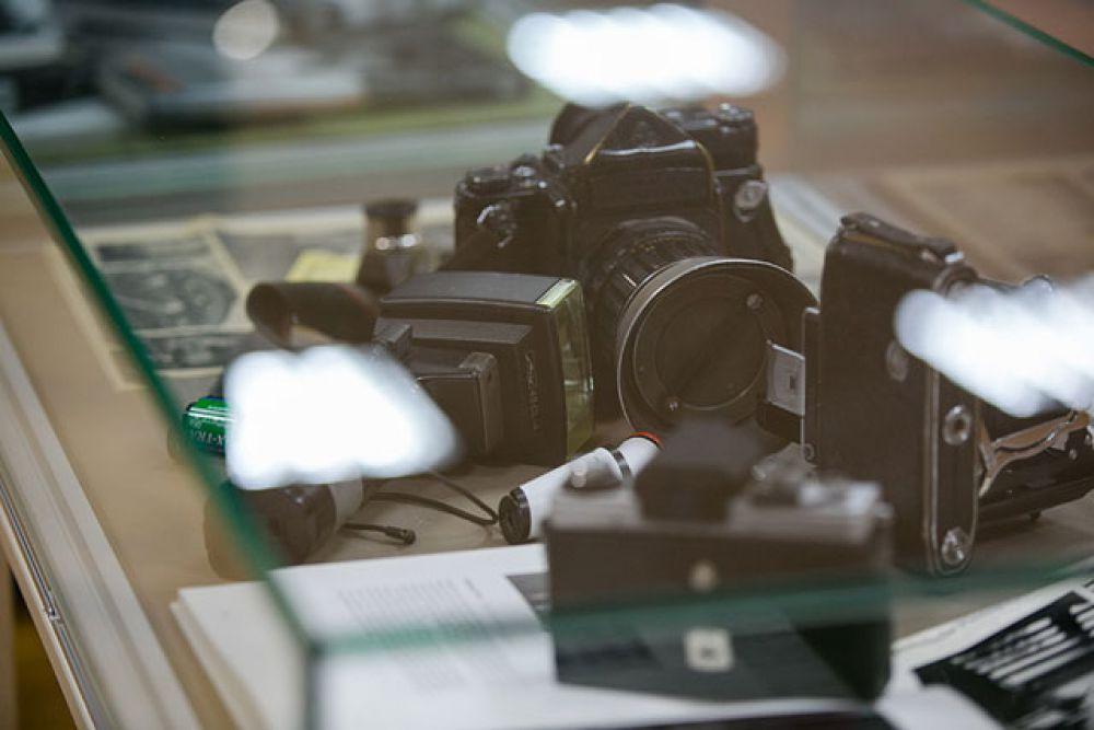 На выставке также были представлены фотоаппараты