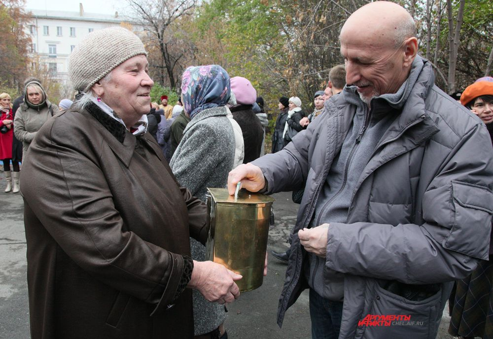 Сбор пожертвований на строительство храма