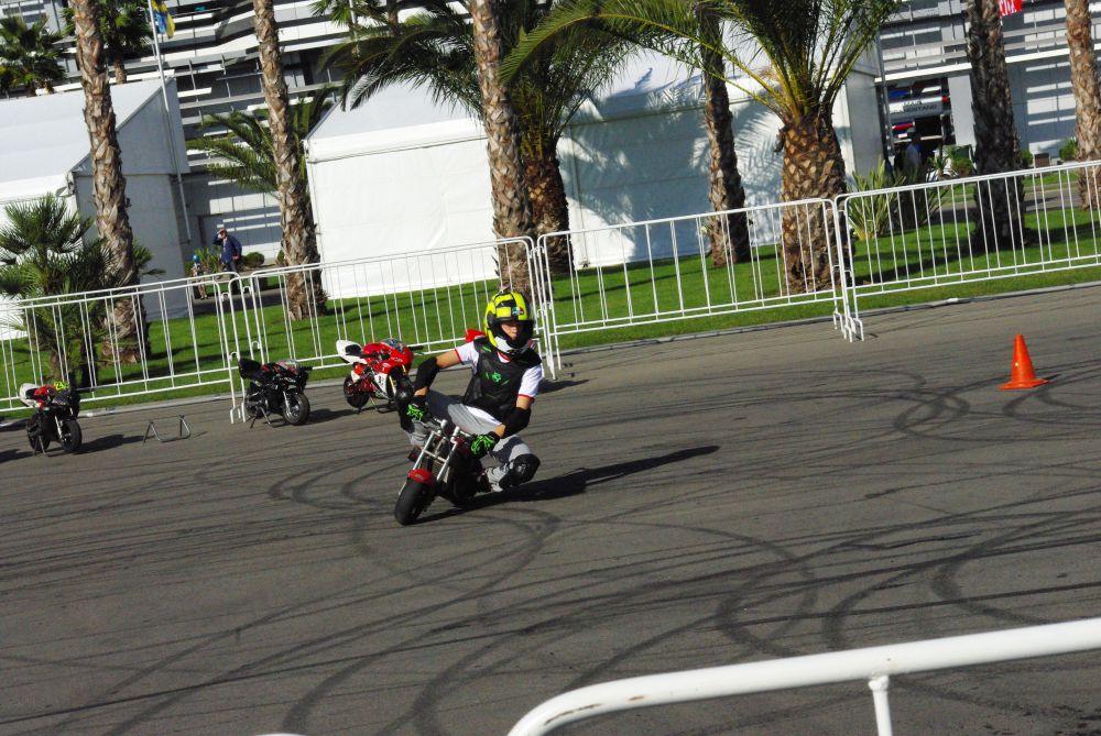 Зрителей развлекали шоу мотокаскадеров. Взрослые мужчины виртуозно держали равновесие на детских мотоциклах.
