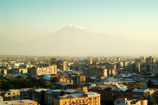 Вид на Ереван.