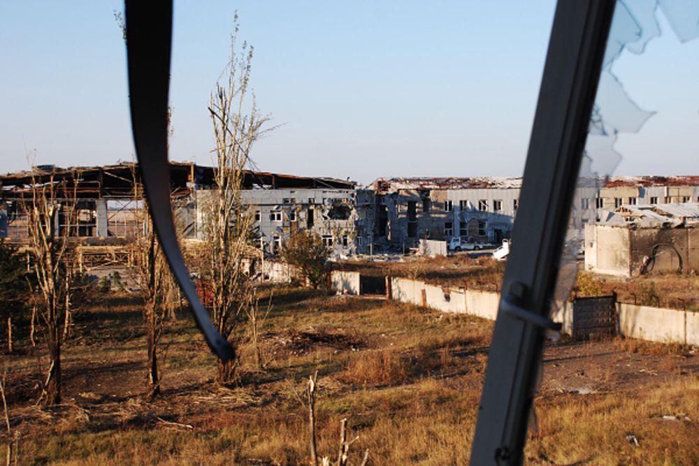 Руины донецкого аэропорта.