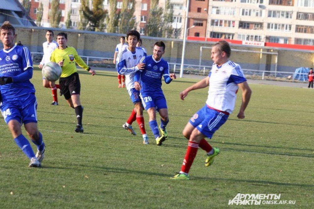 Футбольный матч «Иртыш»-«Якутия».