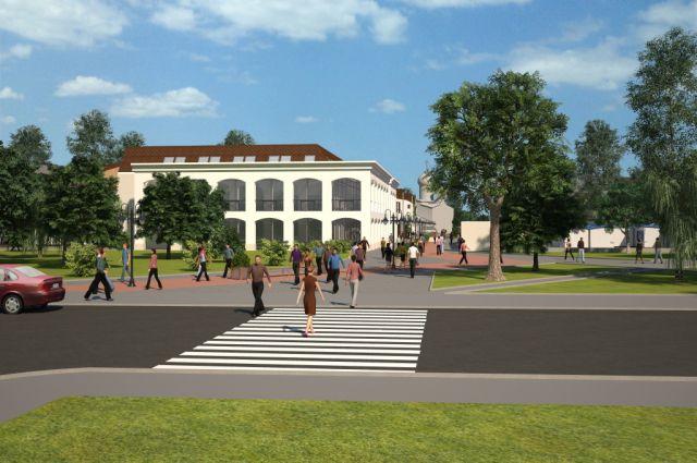 Проект пешеходной зоны в Пскове