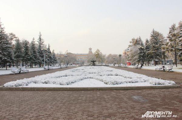 Сквер Кирова на несколько месяцев погрузился в сон.