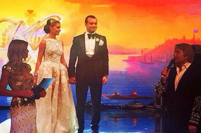 Вера Брежнева и Николай Басков на свадьбе
