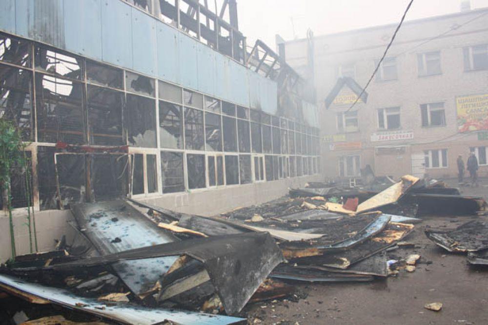 Сгорела большая часть Вьетнамского рынка