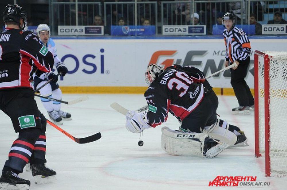 Хоккейный матч «Авангард»-«Сибирь».