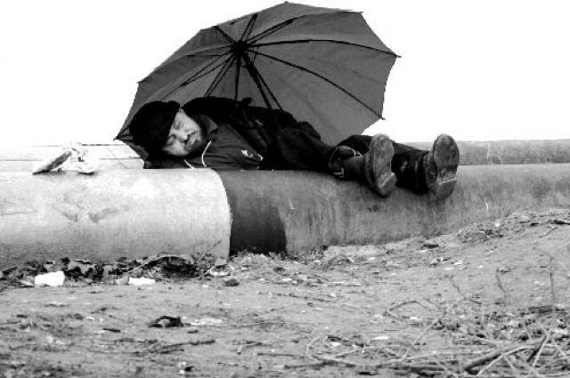 Жители Екатеринбурга одели бездомных