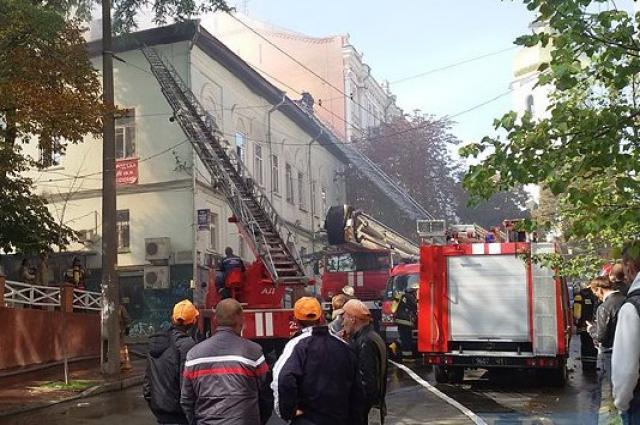 Пожар в Дебальцево