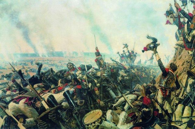 Конец Бородинского боя. Картина Василия Верещагина (около 1899 г.)
