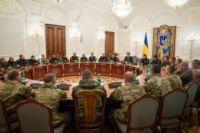 Украинские военные на приеме у Порошенко