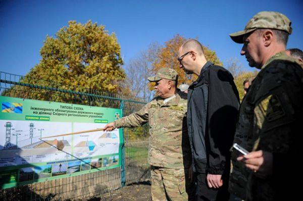 Арсений Яценюк проверил «Стену» на границе с РФ