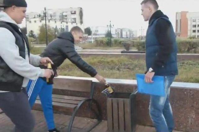 Активисты движения «Начни с себя!» провели антиалкогольный рейд в Магнитке