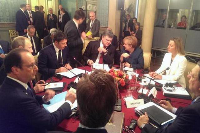 Путин и Порошенко в Милане