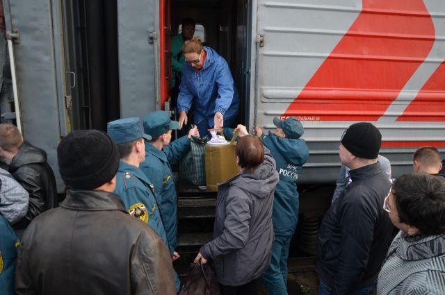 В Екатеринбурге встретили 19 вынужденных переселенцев с Украины