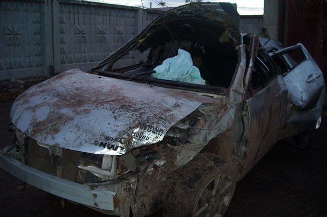 Иномарка, разбитая в ДТП в Саянске.