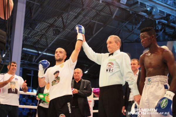Висхан Мурзабеков из Грозного одержал победу на первых секундах первого раунда