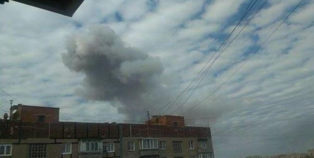 Взрыв на химзаводе в Донецке