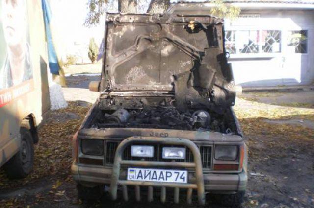 Обгоревший автомобиль
