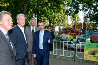 Сергей Собянин во время посещения парка культуры и отдыха «Сокольники».