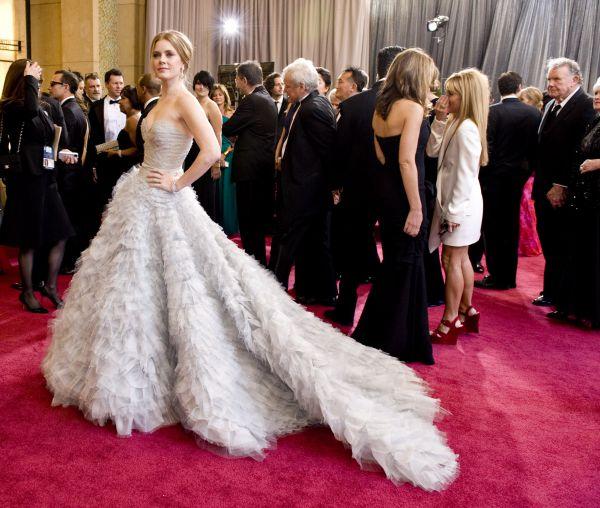 Актриса Эми Адамс на церемонии вручения премии «Оскар» в 2013 году.